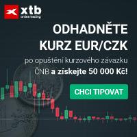 Odhadněte kurz EUR/CZK a získejte 50 000,- Kč